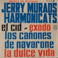 Discos de vinilo: JERRY MURADS HARMONICATS. MÚSICA DE PELÍCULAS. EL CID + 3. EP ESPAÑA. Lote 218099571