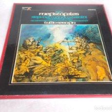 Discos de vinilo: MEFISTÓFELES BOITO CAJA CON 3 LP'S. Lote 218102035