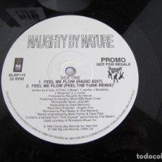 """Discos de vinilo: NAUGHTY BY NATURE / FEEL ME FLOW / RAP HIP HOP / PROMO 12"""" VINILO / UK / VG+. Lote 218107965"""
