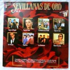 Discos de vinilo: SEVILLANAS DE ORO VOL. 19 , DOBLE DISCO RECOPILATORIO, DISCO VINILO LP, HISPAVOX , 1989. Lote 218108013