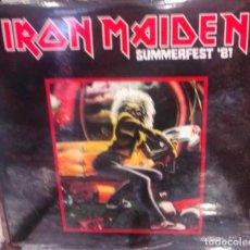 Disques de vinyle: IRON MAIDEN – SUMMERFEST'81 -2 LP-. Lote 218108226