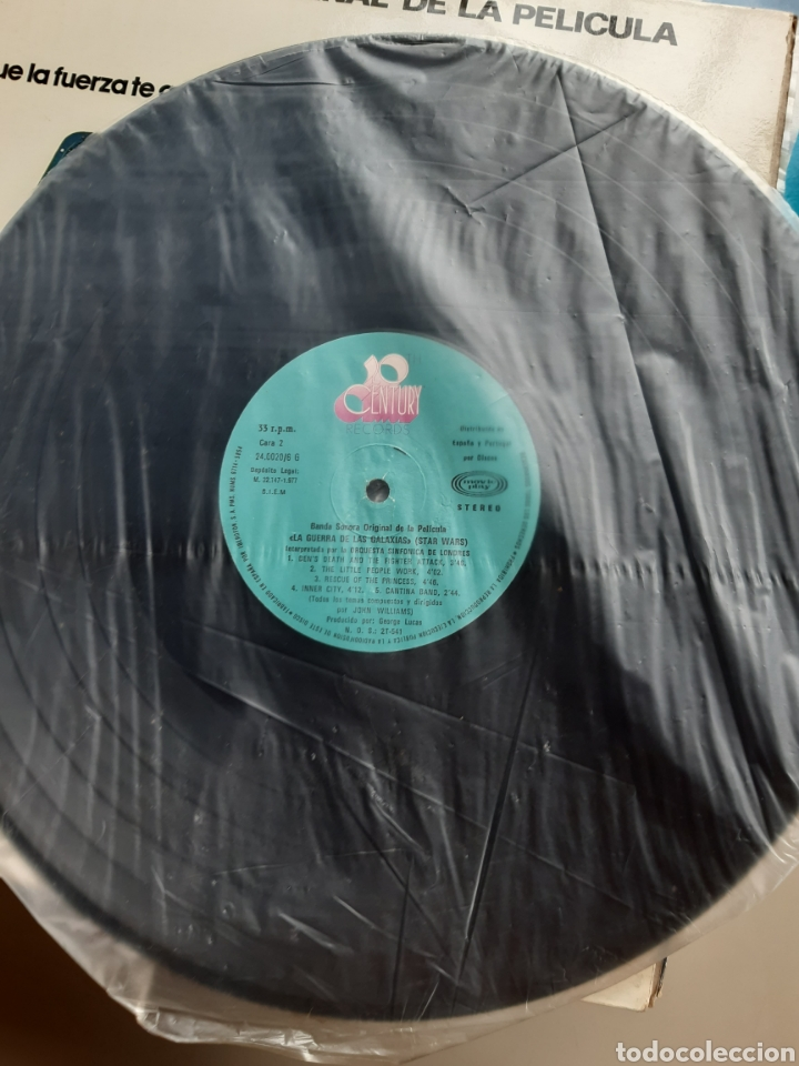 Discos de vinilo: Vinilo banda sonora Star Wars con poster - Foto 6 - 218108230