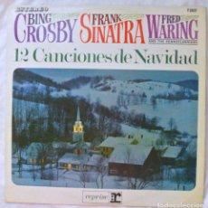 Discos de vinilo: BING SROSBY, FRANK SINATRA, FRED WARING -12 CANCIONES DE NAVIDAD, DISCO VINILO LP, REPRISE 1965. Lote 218108445