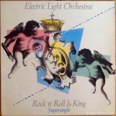 Discos de vinilo: ELECTRIC LIGHT ORCHESTRA : ROCK 'N' ROLL IS KING [ESP 1983] 12'. Lote 218115757