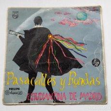 Discos de vinilo: ESTUDIANTINA DE MADRID (PASACALLES Y RONDAS) PEPITA GREUS / EL PAYADOR + 2. EP TDKDS13. Lote 218118033
