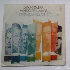 Discos de vinilo: WALDO DE LOS RIOS - SINFONÍAS. SINGLE. TDKDS13. Lote 218118316