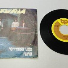 Disques de vinyle: 0920- FURIA HERMOSA VIDA -VIN 7 SINGLE P G DIS G+. Lote 218126180