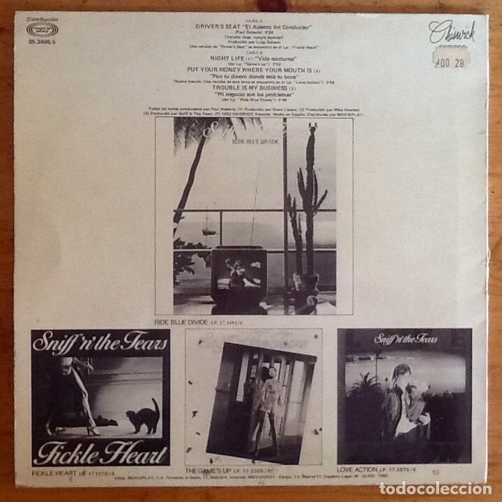 Discos de vinilo: SNIFF n THE TEARS : DRIVERS SEAT [ESP 1982] 12 - Foto 2 - 218128196