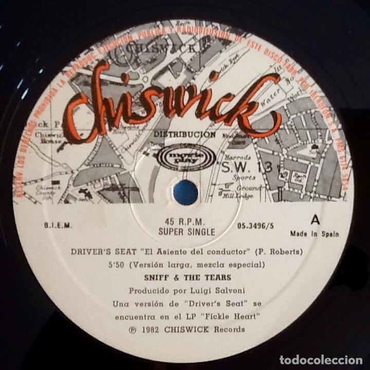 Discos de vinilo: SNIFF n THE TEARS : DRIVERS SEAT [ESP 1982] 12 - Foto 3 - 218128196