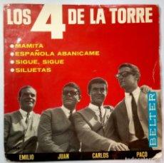 Discos de vinilo: LOS 4 DE LA TORRE - MAMITA - EP 1965 - BELTER. Lote 218129698