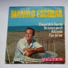 Discos de vinilo: MANOLO ESCOBAR - EL ANGEL DE LA GUARDA / UN BOLERO PARA TI. EP. TDKDS13. Lote 218132883