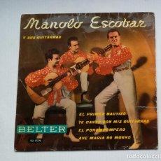 Discos de vinilo: MANOLO ESCOBAR Y SUS GUITARRAS. EL PRIMER BAUTIZO. EP. TDKDS13. Lote 218133003
