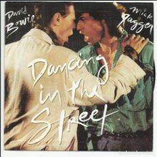 Discos de vinilo: MICK JAGGER DAVID BOWIE – ROLLING STONES DANCING IN THE STREET SINGLE EMI – 006-2007877 ESPAÑA 1985. Lote 218136485
