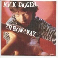 Discos de vinilo: MICK JAGGER ROLLING STONES – THROWAWAY SINGLE CBS 651256 7 ESPAÑA 1988. Lote 218138523