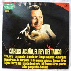 Discos de vinilo: CARLOS ACUÑA , EL REY DEL TANGO, DISCO VINILO LP, ZAFIRO , 1977. Lote 218139706