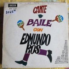 Discos de vinil: LP - EDMUNDO ROS - CANTE-BAILE CON EDMUNDO ROS (SPAIN, DECCA 1964). Lote 218142006
