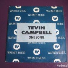 Discos de vinilo: TEVIN CAMPBELL – ONE SONG - SG WEA PROMO 1992 - HIP HOP - ELECTRONICA DISCO 90'S - SIN USO. Lote 218144316