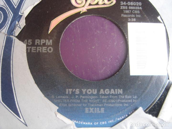 EXILE - IT'S YOU AGAIN - SG EPIC 1987 - ROCK SUREÑO - COUNTRY AMERICANA 80'S - SIN APENAS USO (Música - Discos de Vinilo - Singles - Pop - Rock Extranjero de los 80)