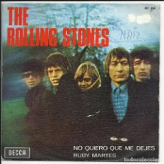 Discos de vinilo: THE ROLLING STONES – NO QUIERO QUE ME DEJES / RUBY MARTES SINGLE DECCA – ME 300 ESPAÑA 1967. Lote 218149216