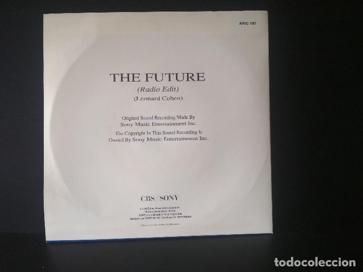 Discos de vinilo: LEONARD COHEN THE FUTURE single spain 1993 pdeluxe - Foto 2 - 218152253