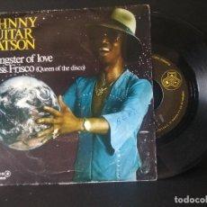 Discos de vinilo: JOHNNY GUITAR WATSON GANSTER OF LOVE + 1 SINGLE SPAIN 1979 PDELUXE. Lote 218152965