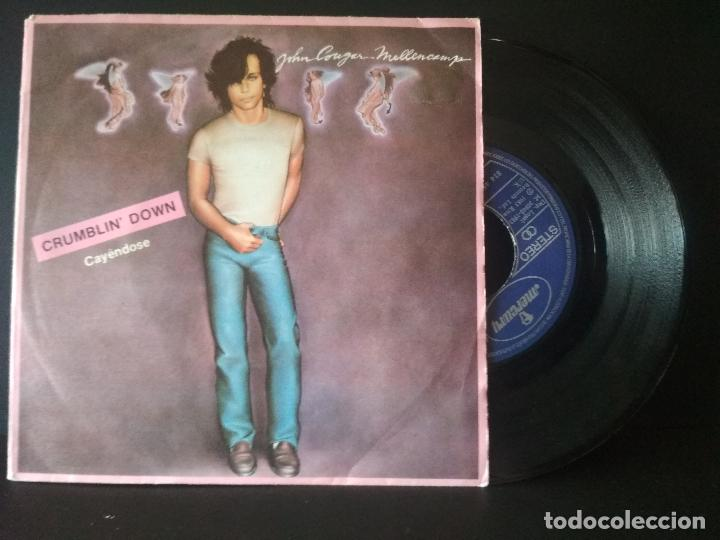 JOHN COUGAR MELLECAMP CRUMBLIN DOWN SINGLE SPAIN 1983 PDELUXE (Música - Discos de Vinilo - Singles - Pop - Rock Extranjero de los 80)