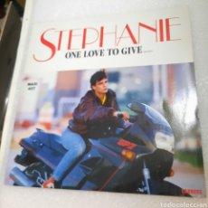 Discos de vinilo: STHEPANIE - ONE LOVE TO GIVE.... Lote 218158390