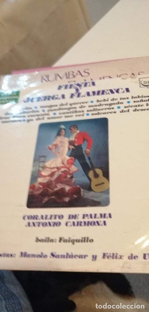 BAL-7 DISCO GRANDE 12 PULGADAS FIESTA Y JUERGA FLAMENCA. CORALITO DE PALMA ANTONIO CARMONA (Música - Discos - LP Vinilo - Flamenco, Canción española y Cuplé)