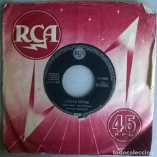 Disques de vinyle: ELVIS PRESLEY. LITTLE SISTER/ HIS LATEST FLAME. RCA, GERMANY 1961 SINGLE. Lote 218161085