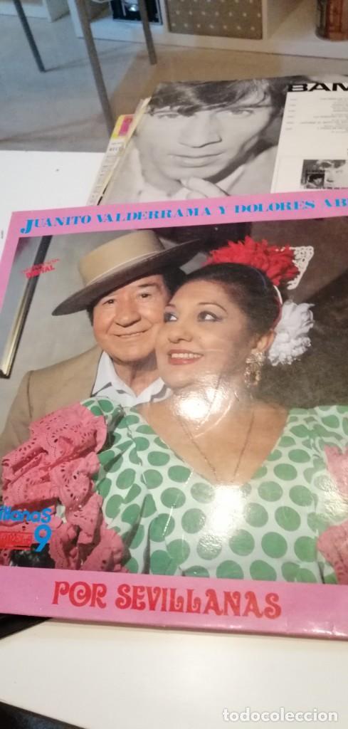 BAL-7 DISCO GRANDE 12 PULGADAS SEVILLANAS - JUANITO VALDERRAMA Y DOLORES ABRIL - POR SEVILLANAS (Música - Discos - LP Vinilo - Flamenco, Canción española y Cuplé)
