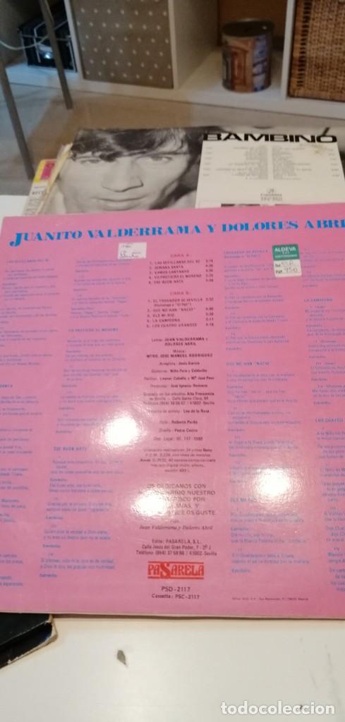 Discos de vinilo: BAL-7 DISCO GRANDE 12 PULGADAS SEVILLANAS - JUANITO VALDERRAMA Y DOLORES ABRIL - POR SEVILLANAS - Foto 2 - 218161256