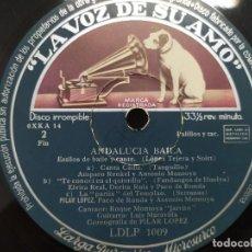 """Discos de vinilo: ROQUE MONTOYA """"JARRITO"""" (CANTAOR) Y LUIS MARAVILLA (GUITARRISTA) DISCO DE 25 CM. Lote 218165897"""