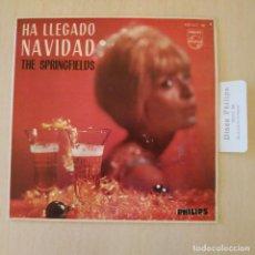Discos de vinilo: THE SPRINGFIELDS (HA LLEGADO NAVIDAD) - REPICAN LAS CAMPANAS +3 EP PHILIPS SPAIN LENGÜETA COMO NUEVO. Lote 218167512