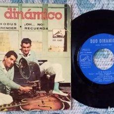 Discos de vinilo: SINGLE DÚO DINÁMICO - EXODUS. Lote 218177793