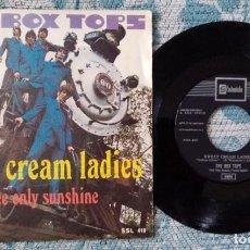 Discos de vinilo: SINGLE THE BOX TOPS - SWEET CREAM LADIES. Lote 218180806