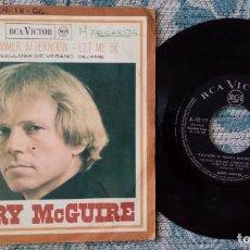 Discos de vinilo: SINGLE BARRY MCGUIRE - CLOUDY SUMMER AFTERNOON. Lote 218181357