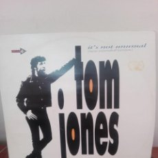 Discos de vinilo: TOM JONES .. - IT´S NOT UNUSUAL (NEW EXTENDED VERSION) - MAXI 1987 -4 TRACK EXTENDED PLAY. Lote 218182343