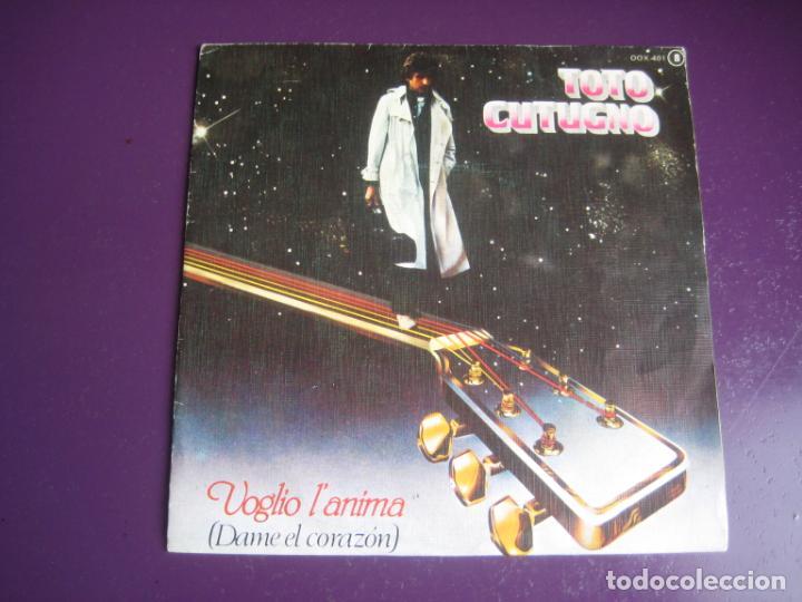 TOTO CUTUGNO - VOGLIO L'ANIMA (DAME EL CORAZÓN) - SG ZAFIRO 1980 - ITALIA POP MELODICO 80'S - (Música - Discos de Vinilo - Singles - Pop - Rock Extranjero de los 80)