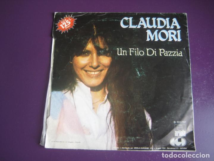 Discos de vinilo: Claudia Mori - No Sucederá Más - Sg ARIOLA 1982 - ITALIA POP 80S - VINILO POCO USO, PORTADA ROZADA - Foto 2 - 218186308