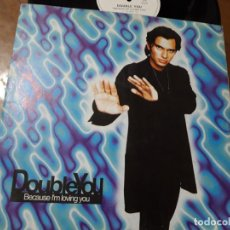 Dischi in vinile: DOUBLE YOU – BECAUSE I'M LOVING YOU-ESPAÑA-MAXI-1999- BLANCO Y NEGRO – MX 688. Lote 218190687