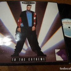 Disques de vinyle: VANILLA ICE ‎– TO THE EXTREME- HISPAVOX ‎– 060 7953251-ESPAÑA-1990-LP-. Lote 218193705
