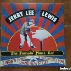 Discos de vinilo: JERRY LEE LEWIS - THE PUMPIN´ PIANO CAT (LP) 1989. Lote 218196981