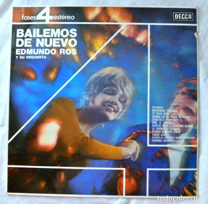 EDMUNDO ROS Y SU ORQUESTA - BAILEMOS DE NUEVO, DISCO VINILO LP, DECCA, 1963 (Música - Discos - LP Vinilo - Orquestas)
