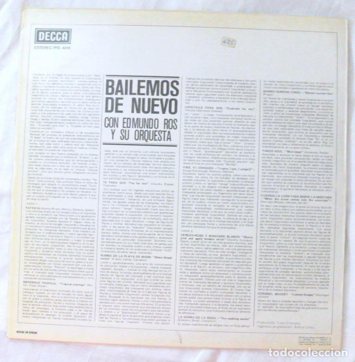 Discos de vinilo: EDMUNDO ROS Y SU ORQUESTA - BAILEMOS DE NUEVO, DISCO VINILO LP, DECCA, 1963 - Foto 2 - 218203267