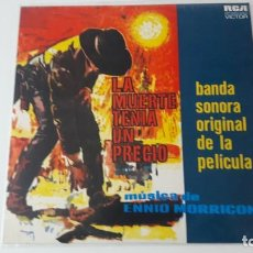Discos de vinilo: ENNIO MORRICONE LA MUERTE TENIA UN PRECIO ED. ESPAÑOLA 1966. Lote 218206827