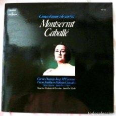 Discos de vinilo: MONTSERRAT CABALLÉ - CANÇO D'AMOR I DE GUERRA , DISCO VINILO LP, ALHAMBRA , 1974. Lote 218209612