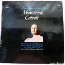 Discos de vinilo: MONTSERRAT CABALLÉ - CANÇO D'AMOR I DE GUERRA , DISCO VINILO LP, COLUMBIA , 1974. Lote 218209817