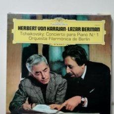 Discos de vinilo: HERBERT VON KARAJAN LAZAR BERMAN TCHAIKOVSKY. Lote 218221196