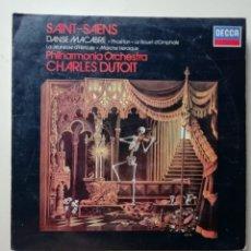 Discos de vinilo: SAINT SAENS PHILHARMONIA ORCHESTRA CHARLES DUTOIT. Lote 218226945