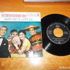Discos de vinilo: LOS CUATRO HERMANOS SILVA ESTANDO CONTIGO EP VINILO DEL AÑO 1962 ESPAÑA 4 TEMAS. Lote 218228532